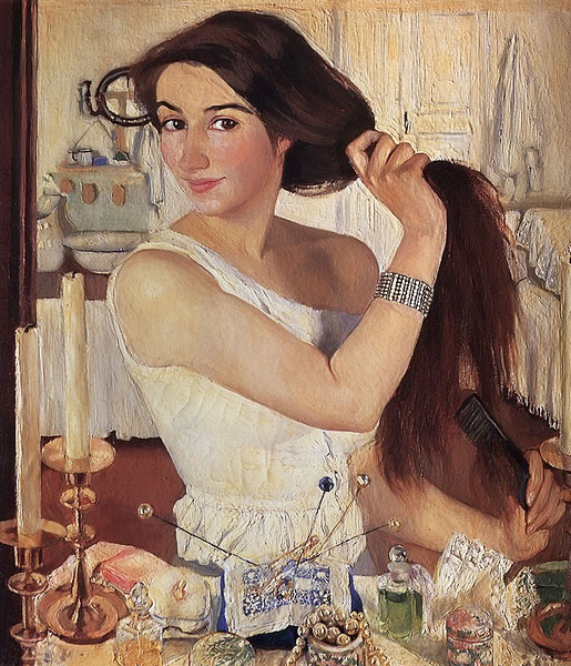 Zinaida Serebryakova - Self-Portrait at the Dressing Table: www.russianartgallery.org/famous/serebryakova_selfportrait.htm